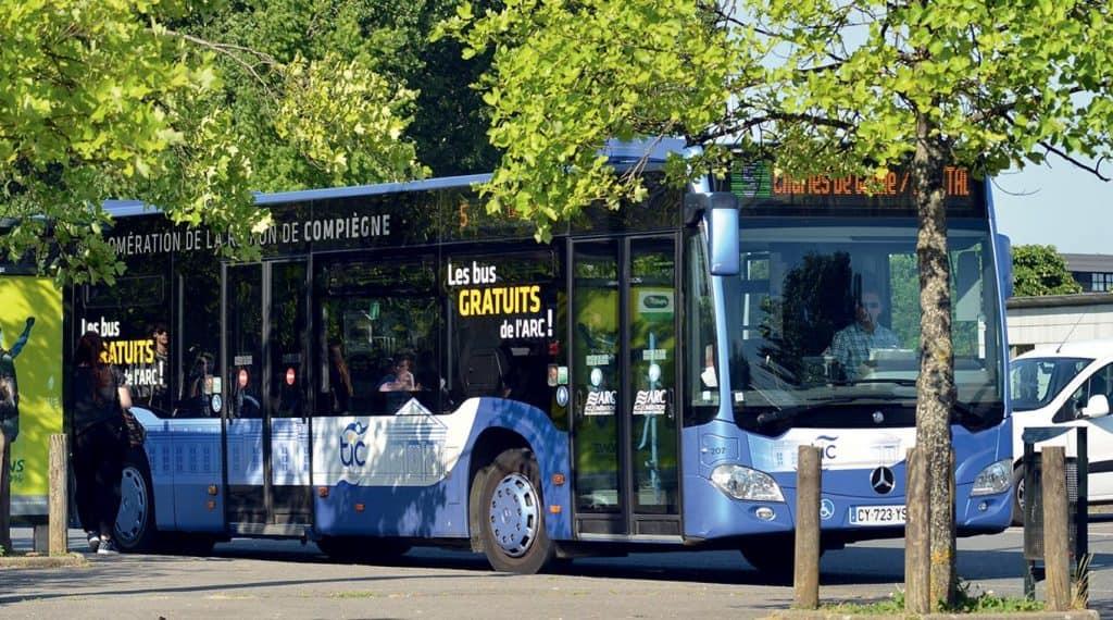 bus gratuit Compiegne, France